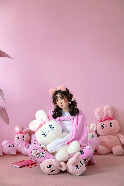 울랄라파자마(ULLALA PAJAMAS) 에스더버니 수면바지 핑크
